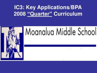 IC3: Key Applications
