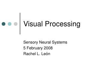 Visual Processing
