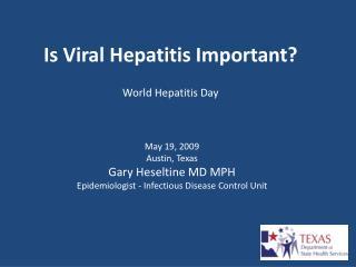Is Viral Hepatitis Important