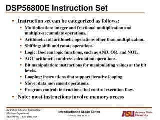 DSP56800E Instruction Set