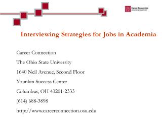 Interviewing Strategies for Jobs in Academia