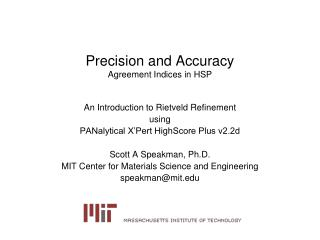 Precision and Accuracy Agreement Indices in HSP