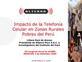 Impacto de la Telefon a Celular en Zonas Rurales Pobres del Per
