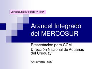 Arancel Integrado del MERCOSUR