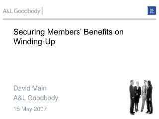 Securing Members  Benefits on Winding-Up