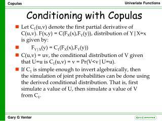Conditioning with Copulas