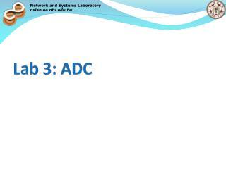 Lab 3: ADC
