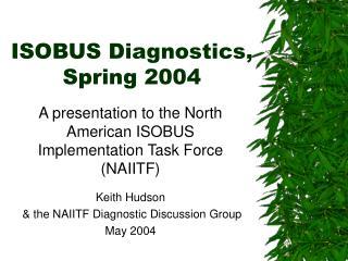 ISOBUS Diagnostics,   Spring 2004