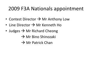 2009 F3A Nationals appointment