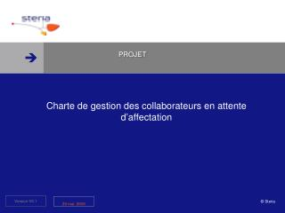Charte de gestion des collaborateurs en attente d affectation