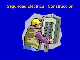 Seguridad El ctrica:  Construcci n