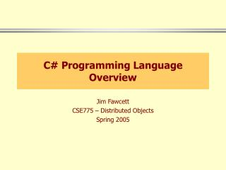C Programming Language Overview
