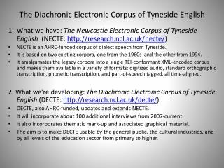 The Diachronic Electronic Corpus of Tyneside English