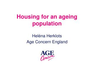 Housing for an ageing population