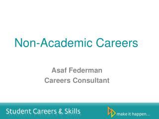 Non-Academic Careers