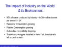 The Impact of Industry on the World   its Environment