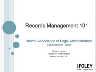 Records Management 101