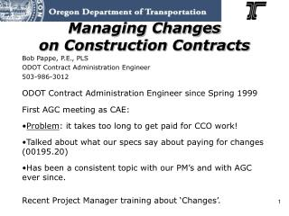 Managing Changes on Construction Contracts