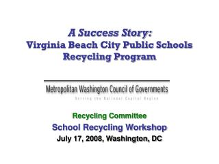 Virginia Beach City Public Schools Recyclying