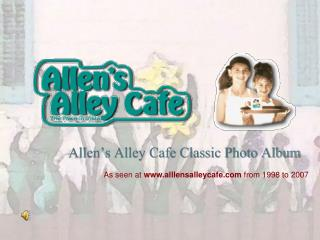 Allen s Alley Cafe Classic Photo Album