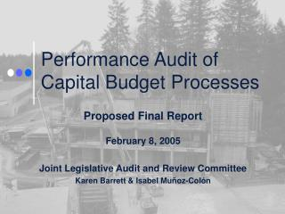 Performance Audit of Capital Budget Processes