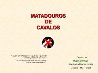MATADOUROS DE CAVALOS