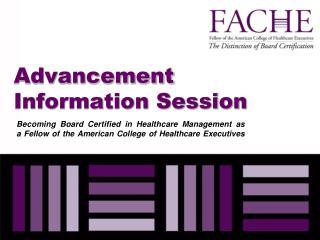 Advancement Information Session