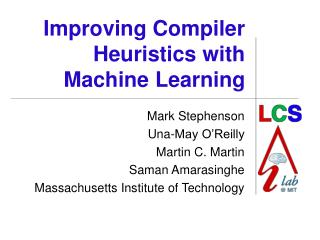 Improving Compiler Heuristics with Machine Learning