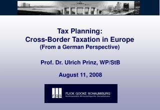Tax Planning: