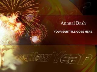 Annual Bash