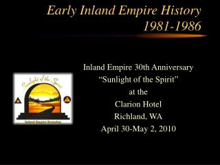 Early Inland Empire History 1981-1986