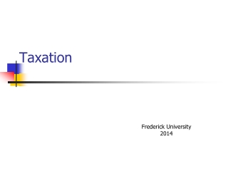 Principles of Taxation