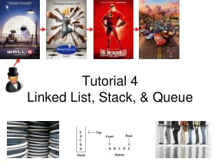 Tutorial 4 Linked List, Stack,  Queue