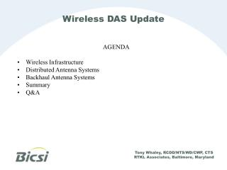 Wireless DAS Update