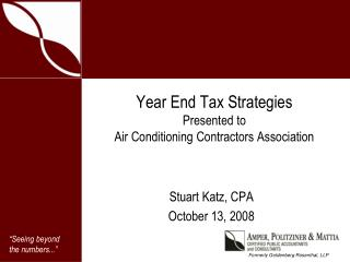 Year End Tax Strategies