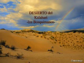 DESIERTO del  Kalahari -los Bosquimanos-