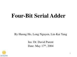 Four-Bit Serial Adder
