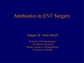 Antibiotics in ENT Surgery