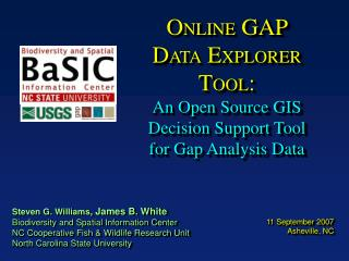 ONLINE GAP DATA EXPLORER TOOL:  An Open Source GIS Decision Support Tool for Gap Analysis Data