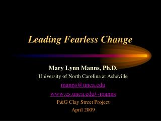 Leading Fearless Change