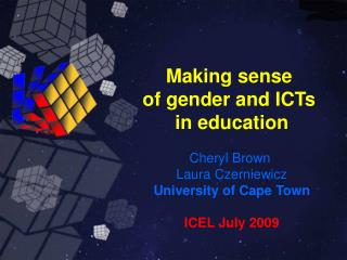 Making sense of gender and ICTs in Education
