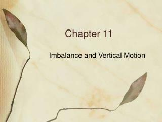 Imbalance and Vertical Motion