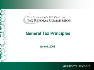 General Tax Principles