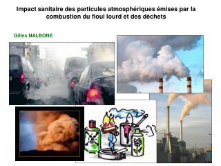 Impact sanitaire des particules atmosph riques  mises par la combustion du fioul lourd et des d chets