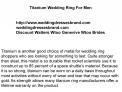 Titanium Wedding Ring For Men