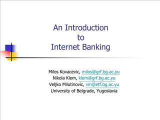 An Introduction  to Internet Banking