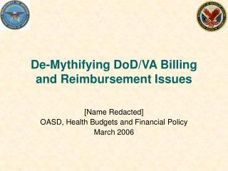 De-Mythifying DoD