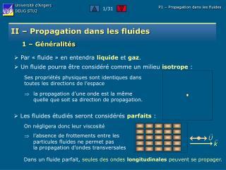 II   Propagation dans les fluides