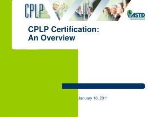 CPLP Certification:  An Overview