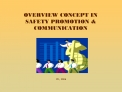 OVERVIEW CONCEPT IN  SAFETY PROMOTION  COMMUNICATION